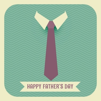 Vintage father's day card with a tie