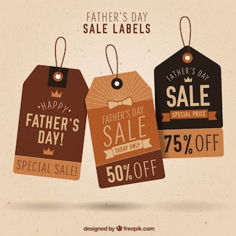 Vintage father's day tags