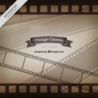 Vintage film frames background