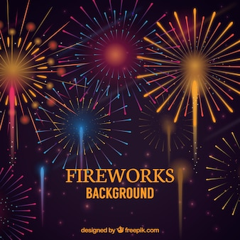 Vintage fireworks background