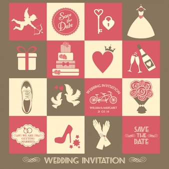 Vintage Flat Wedding Invitation