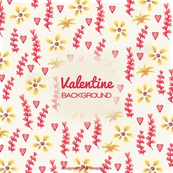 Vintage floral background for valentine's day