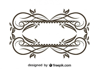 Vintage Floral Decorative Frame Design