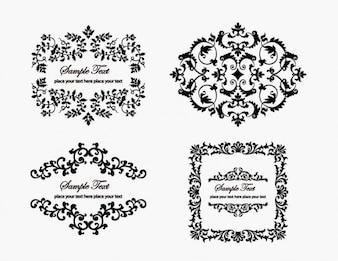 vintage floral frame element