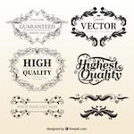 Vintage floral frame templates