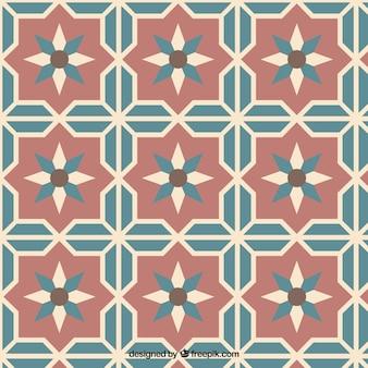 Vintage floral tile pattern