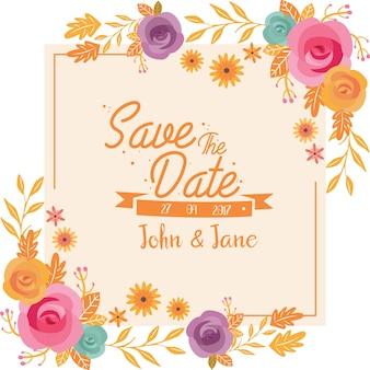 Vintage Floral Wedding Certificate