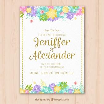 ヴィンテージ花嫁の結婚式招待状