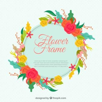Vintage floral wreath