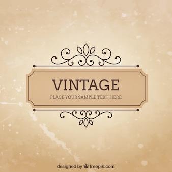 Vintage frame template