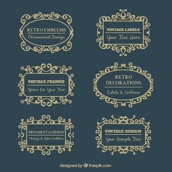 Vintage frames victorian style