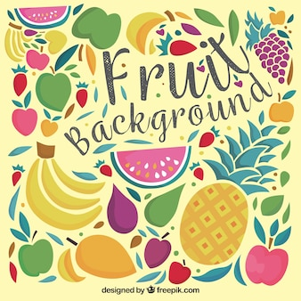 Vintage fruit decorative background