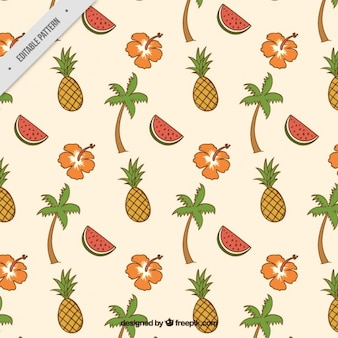 Vintage fruits pattern