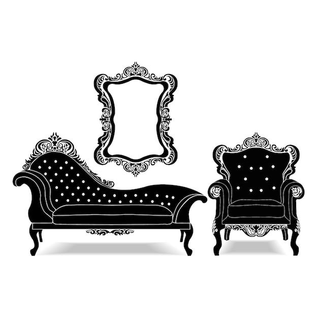 Vintage Sofa Vectors Photos and PSD files Free Download