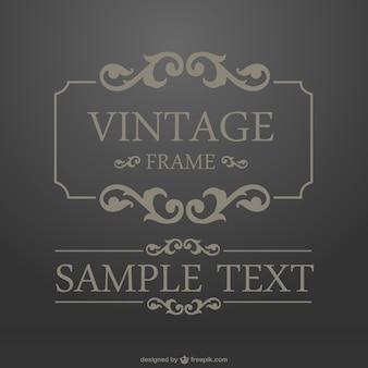 Vintage gilded frame