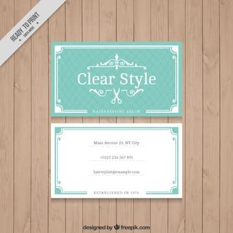 VIntage hairdressing card