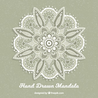 Vintage hand drawn mandala background