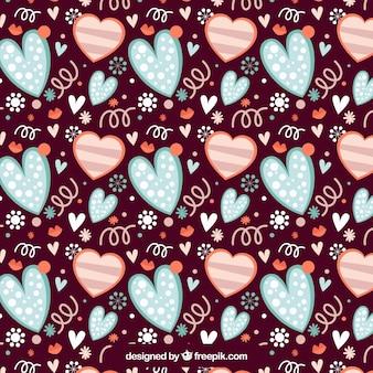 Vintage hearts pattern