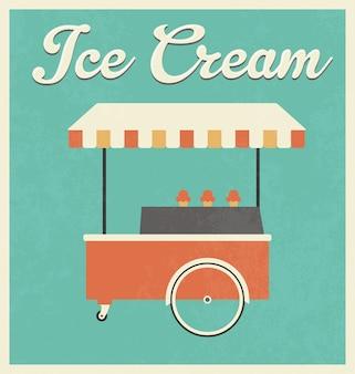 Vintage ice cream background