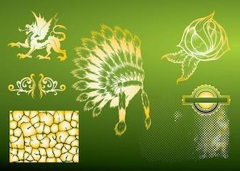 VIntage Indian elements