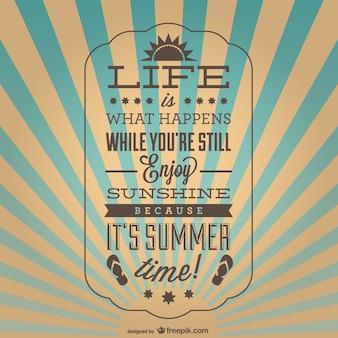 Vintage inspirational summer poster