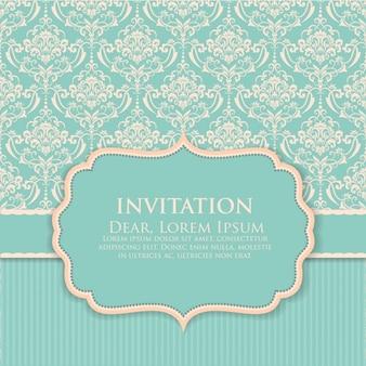 Vintage invitation design