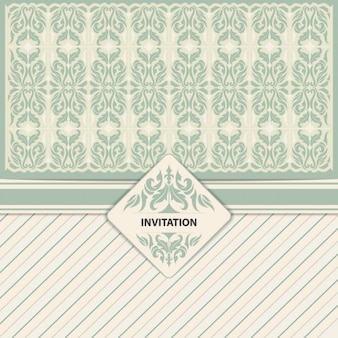 Vintage invitation in ornament style