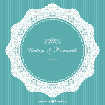 Vintage invitation romantic vector