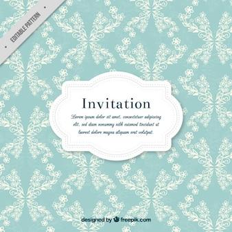 Vintage invitation with floral details