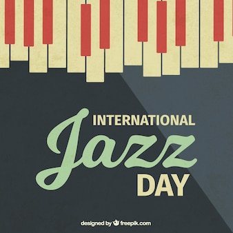 Vintage jazz background with piano keys