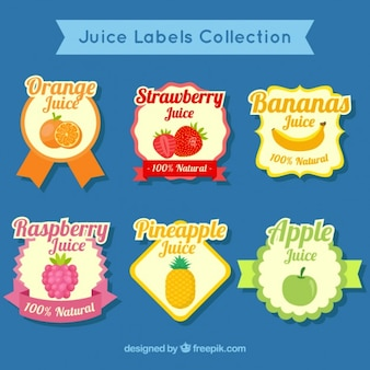 Vintage juice label collection