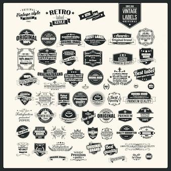 Vintage labels collection