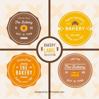 Vintage labels of bakery