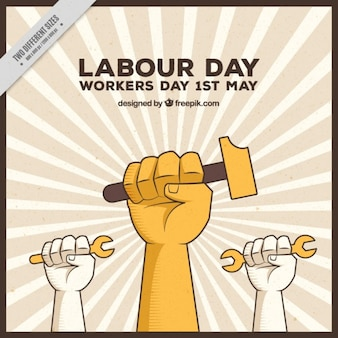 Vintage labor day background