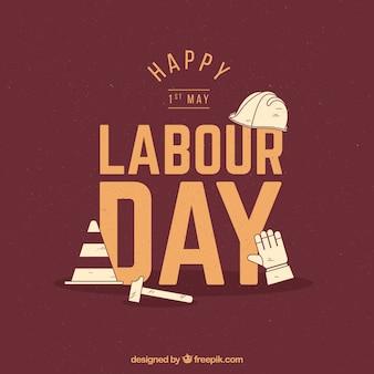 Vintage labour day background