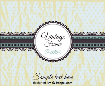 Vintage Lace Banner and Badge Design