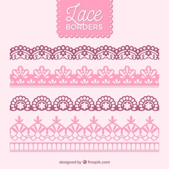 Vintage lace borders pack