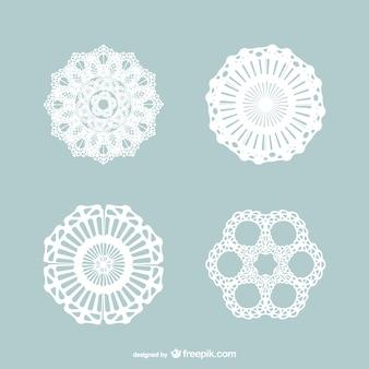Vintage lace ornaments pack