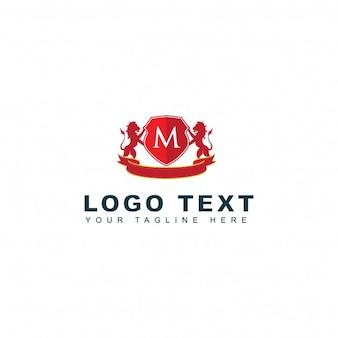 Vintage letter m logo template