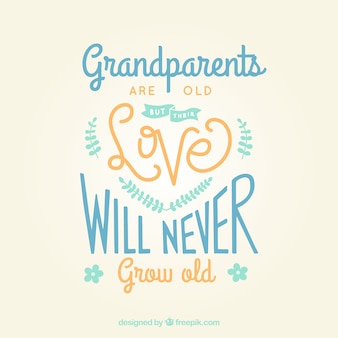 Vintage lettering with grandparents day quote