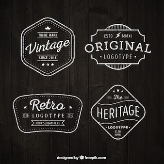 Vintage logotypes set in flat design