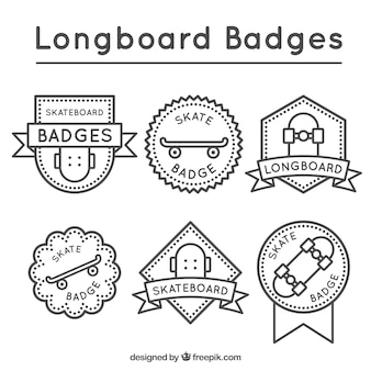 Vintage longboard badges