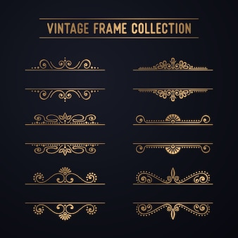 Vintage luxury frame collection