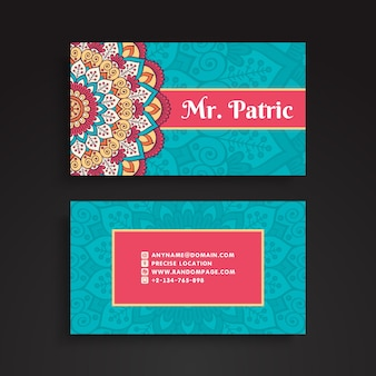 Vintage mandala business card