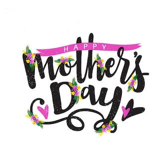 Vintage mother's day background with pink details