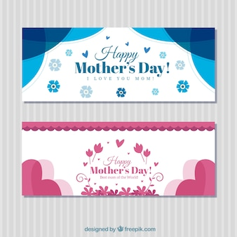Vintage mother's day banners