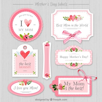 Vintage mother's day stickers