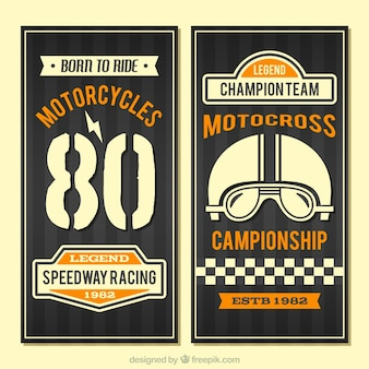 Vintage motorcycles banners
