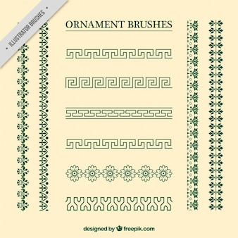 Vintage ornament brushes collection
