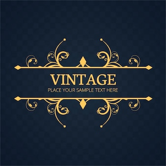 Vintage ornamental frame template